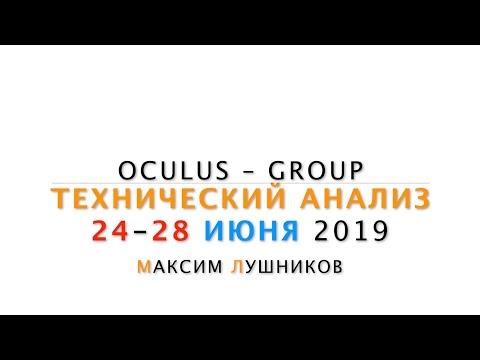 Технический обзор рынка Форекс на неделю: 24 - 28 Июня 2019 от Максима Лушникова