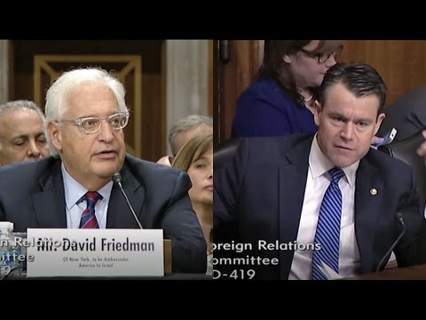 Senator Todd Young: Todd Questions Ambassador to Israel-nominee Friedman
