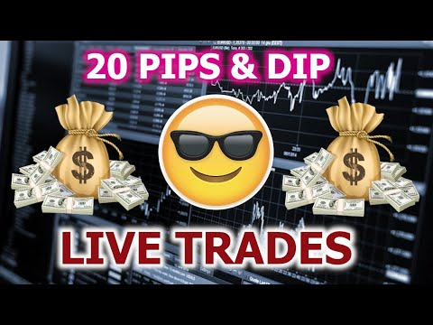Forex Trading For Beginners - 20 PIPS & DIP INDICATOR (LIVE TRADING & RESULTS)