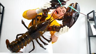 (eng) '대왕랍스터' 회 떠먹자!! How To Cut A Huge Lobster