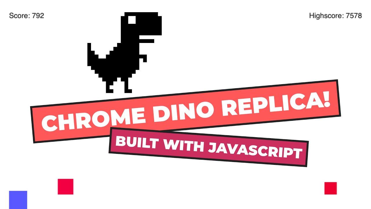 Chrome Dino Replica Game in JavaScript | HTML5 Canvas Tutorial