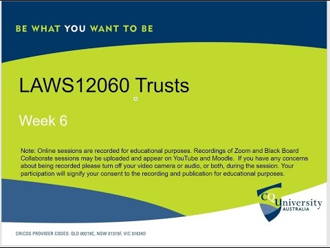 LAWS12060_06_2017 Trusts: Duties, Rights And Powers Of Trustees
