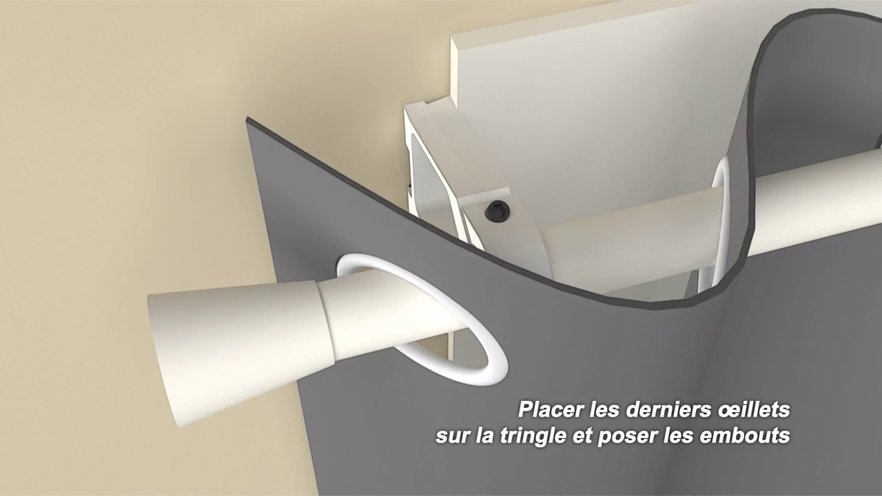 Ridorail ib support de tringle rideaux pour fenetre for Tringle pour fenetre de toit