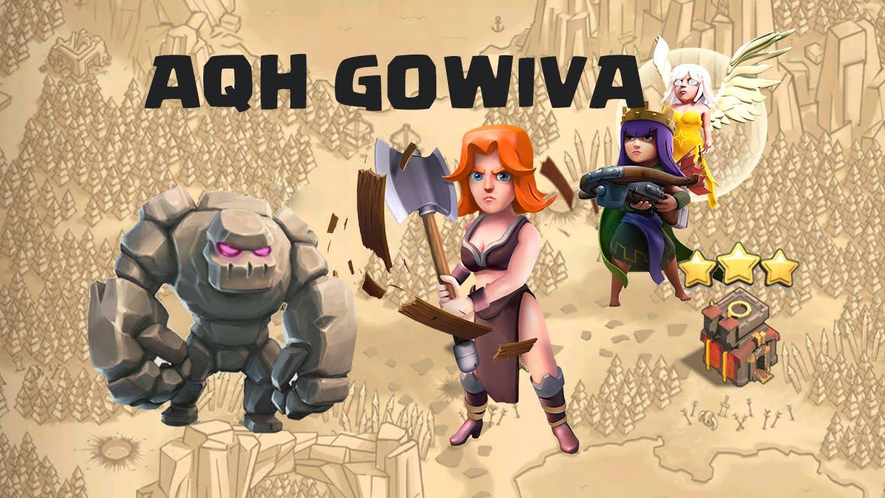 GOWIVA HDV 10 & 11 + AQH | Compo valkyrie 3 étoiles GDC | TUTO Clash of Clans français