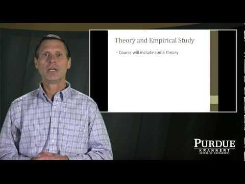 Purdue University online Master's Program in Economics: Professor Tim Cason, Behavioral Economics