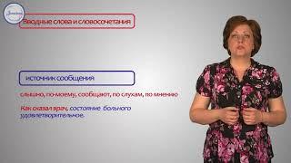 Группы вводных слов в русском языке