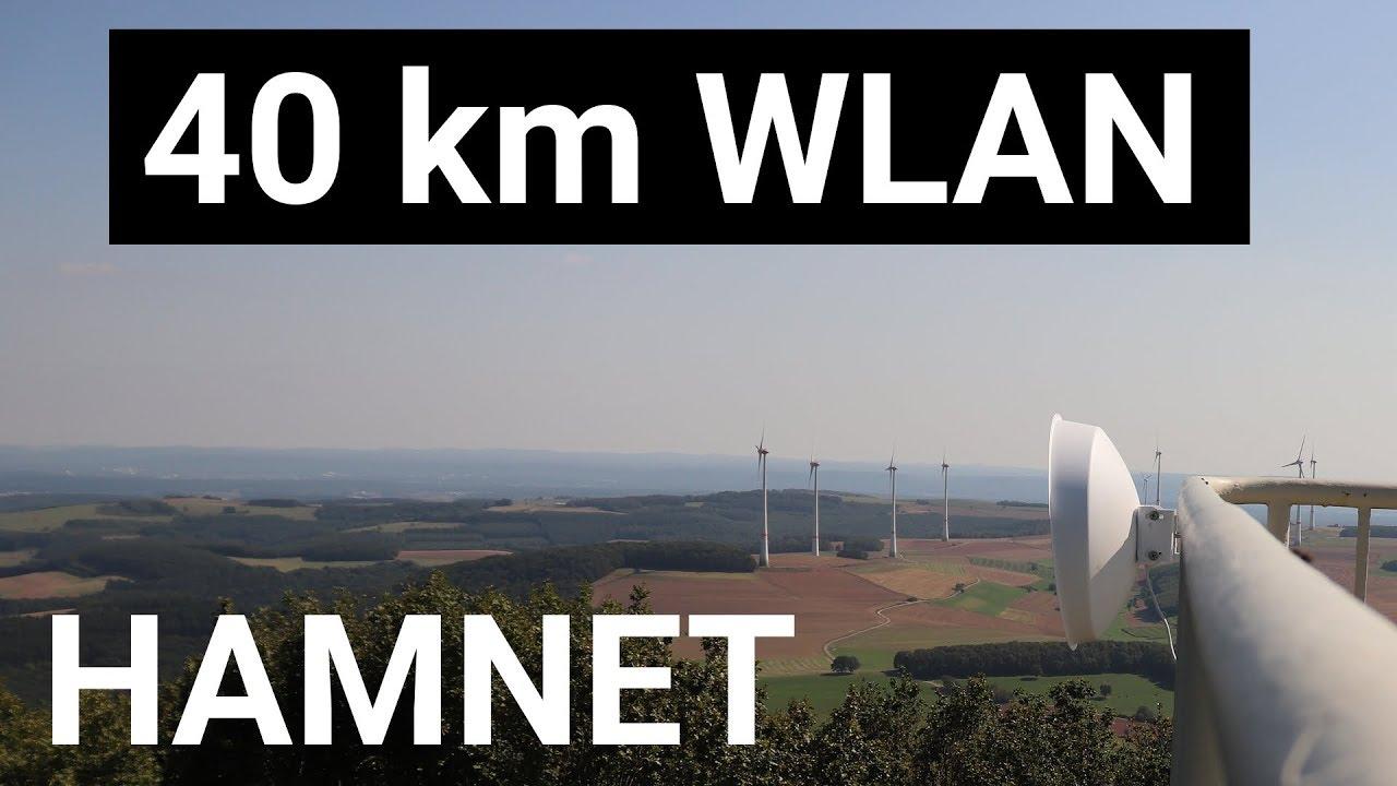 40km WLAN Richtfunk mit HAMNET - DB0SLB nach DB0FTC