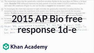 2015 ap biology free response 1 d e