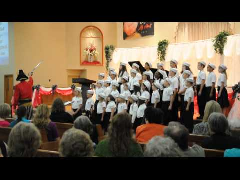 Patch the Pirate sings with the kids of First Baptist Church JONAH