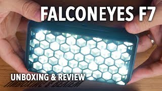 FalconEyes F7 Unboxing and Review
