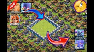 Who can survive this difficult troll trap on coc😎troops vs trap😘 ultimate battle🔥unity clash💘