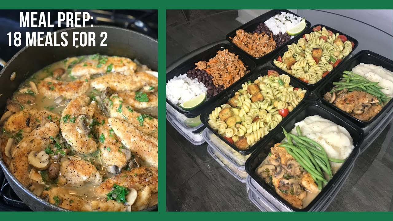 MEAL PREP FOR THE WEEK: 18 healthy meals for 2 (How Meal Prepping Works)