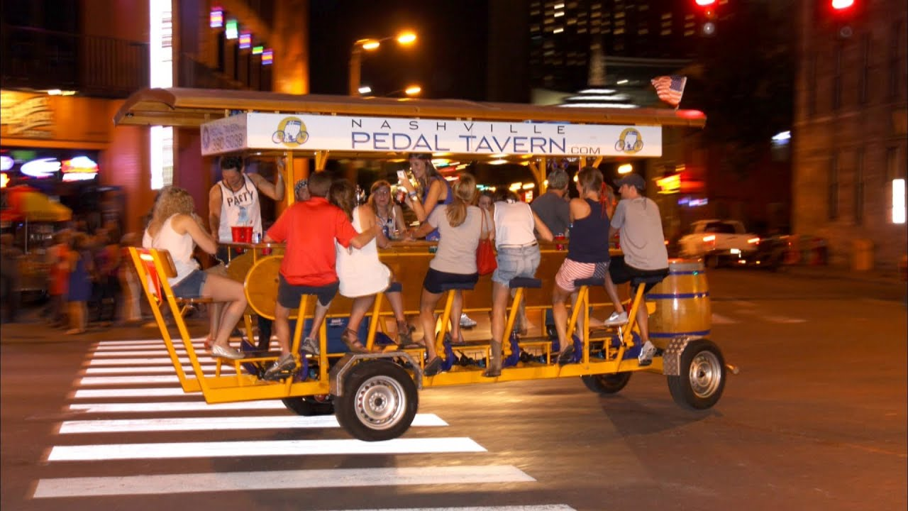 Nashville Pedal Tavern One Way To Drink Drive Youtube