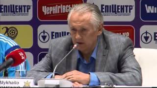 Послематчевая пресс-конференция Михаила Фоменко (Украина-Словакия)