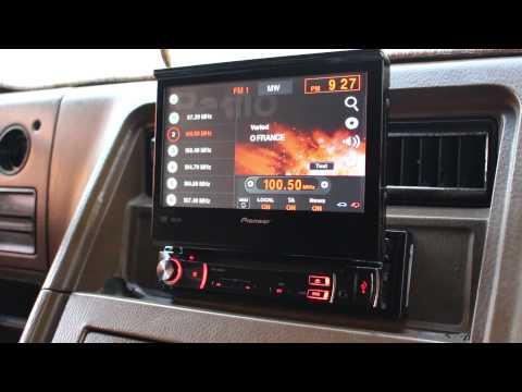Pioneer AVH-3500DVD открытие и закрытие экрана
