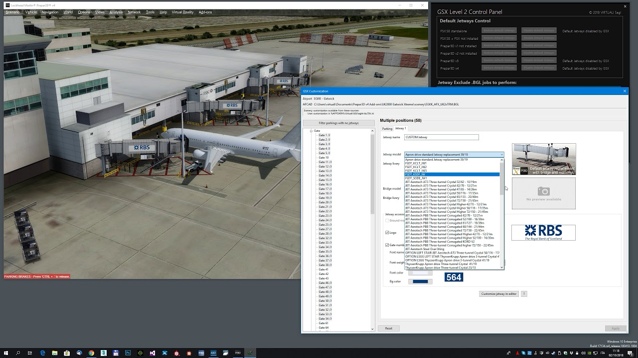 GSX Level 2 - Replace jetways on a 3rd party airport in less than 4 minutes