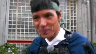 大多喜お城まつりで、日本テレビのレポーター阿部 祐二さんが武者行列に...