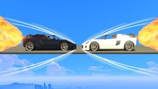 THEY HIT EACH OTHER WHILE BREAKING THE SOUND BARRIER! (GTA 5 Funny Moments)
