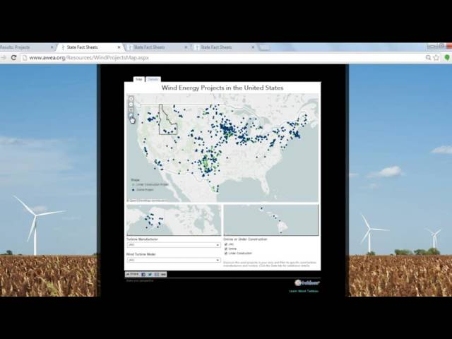 Mapping Features - AWEA Market Database Pro  - Buy American