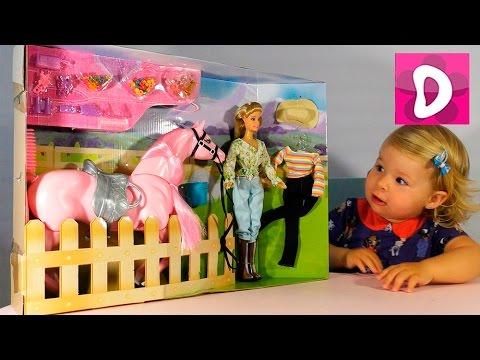 ✿ Кукла и Лошадка для Барби Набор Распаковка Doll and Barbie Horse Unpacking