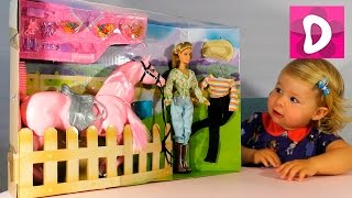 ✿ Кукла и Лошадка для Барби Набор Распаковка Doll and Barbie Horse Unpacking