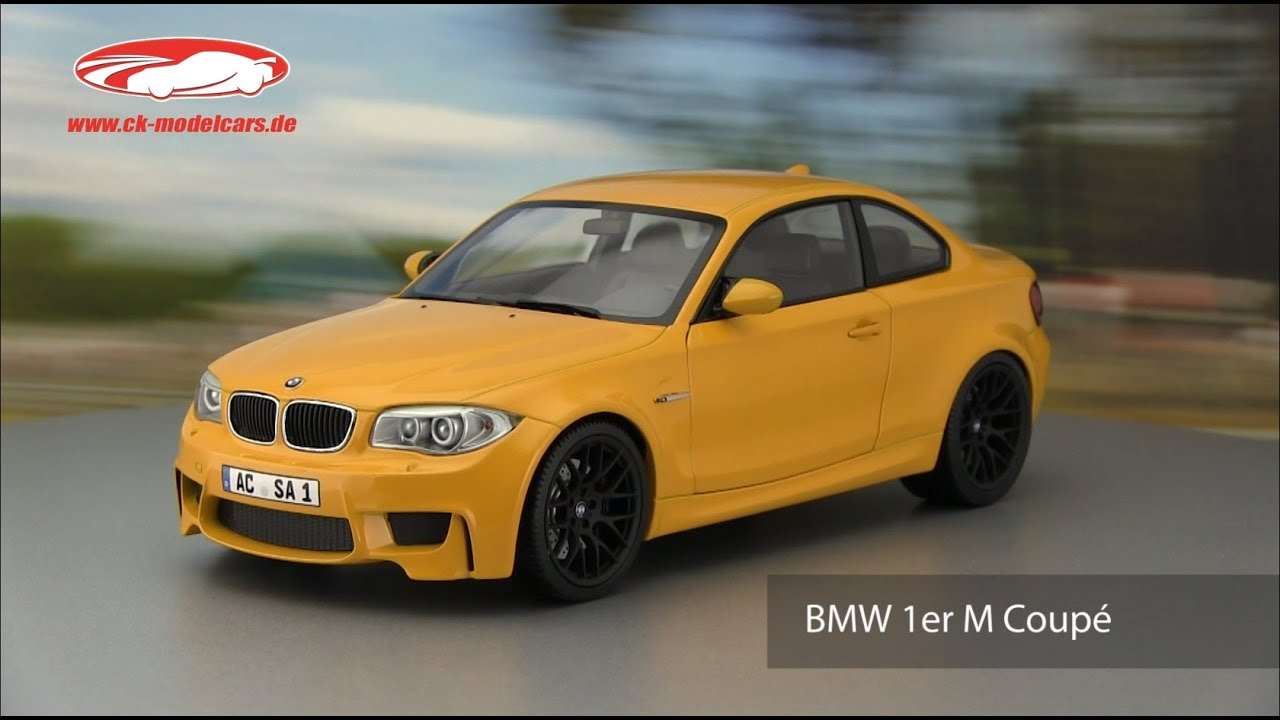 ck modelcars video bmw 1er m coupe gelb minichamps youtube. Black Bedroom Furniture Sets. Home Design Ideas