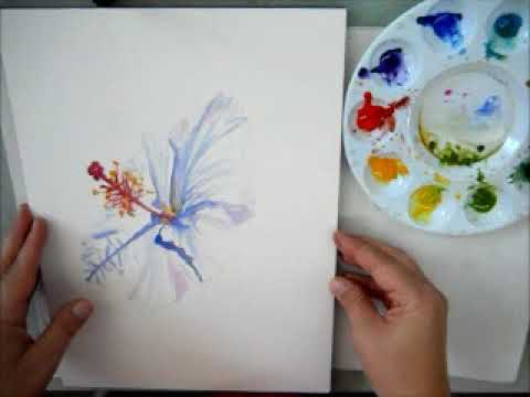 Leaf Printing in Watercolors