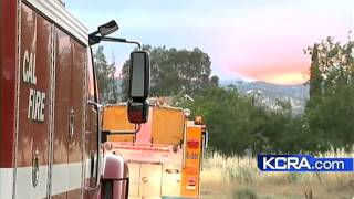 Several wildfires burn through Colusa County