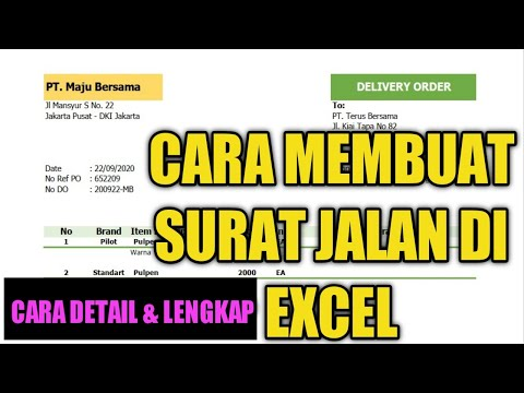 Cara Membuat Surat Jalan Di Excel || Tutorial Office