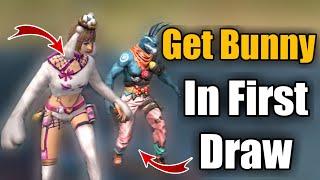 Get Bunny Costume In One Draw | Freefire Draw A Bunny | #PlayWithSkills 🐰