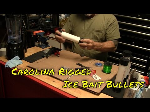 How To Make Surf Fishing Air Cannon Bait Slugs, Bullets - Carolina Rig Style!