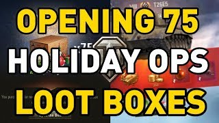 World of Tanks || Opening 75 Holiday Ops Loot Crates...