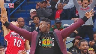 Zion Williamson Ain't Tryna Be The Only One Injured Then Teammate Switches Seat! Nuggets vs Pelicans