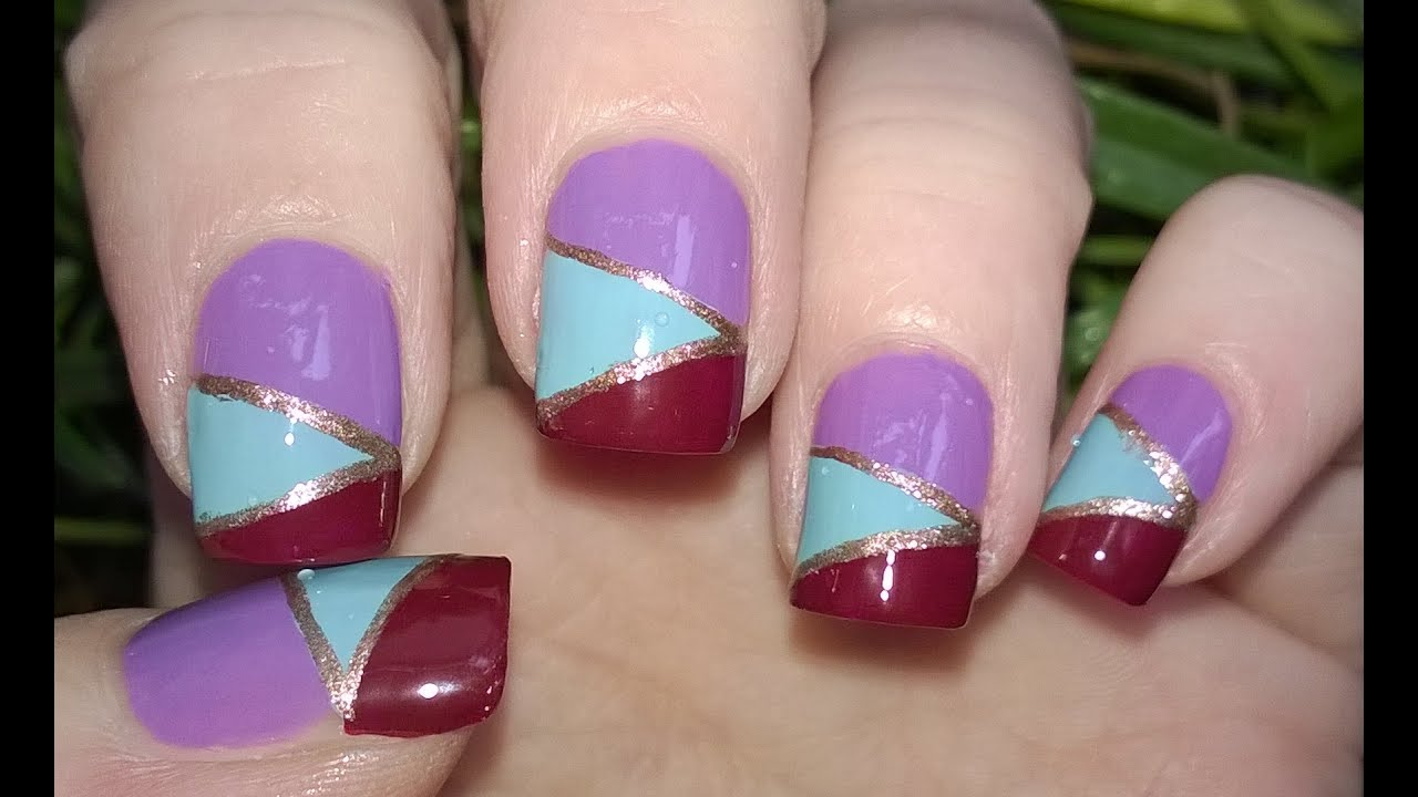 Diy Mosaic Nails Without Tools Easy Nail Art Designs Step By You