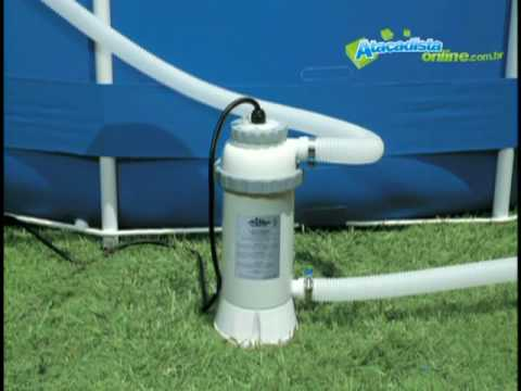 Funcionamento piscina intex youtube for Filtros bombas accesorios piscinas intex