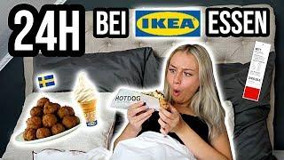 24 Stunden NUR bei IKEA ESSEN!!! *Food Challenge* ⎥ PIA