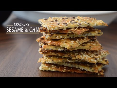 Sesame & Chia Crackers Recipe | Go Delicious