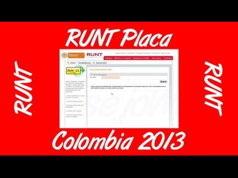 Como Consultar El RUNT Por Placa Colombia