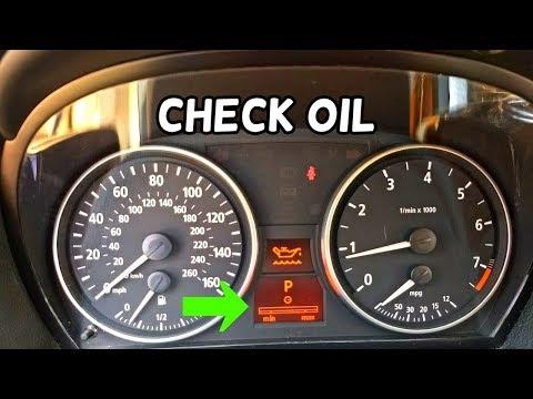 HOW TO CHECK OIL LEVEL ON BMW E90 E 91 E92 E93 - YouTube