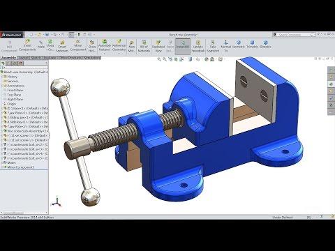Solidworks Tutorial | Sketch Bench Vise In Solidworks | Solidworks