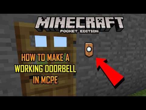 HOW TO MAKE A Working Doorbell IN MCPE (Minecaft PE)