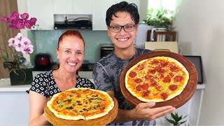 HOMEMADE PIZZA RECIPE SIMPLY PIZZA Домашняя пицца Маргарита, Пепперони