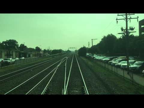 Metra BNSF Railway #1254 Riverside to Chicago Union Station 7/11/17