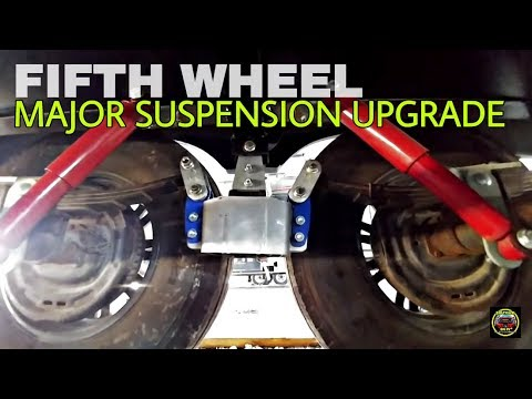 Fifth Wheel Suspension MorRyde SRE 4000 install and Lifted with SafeJack