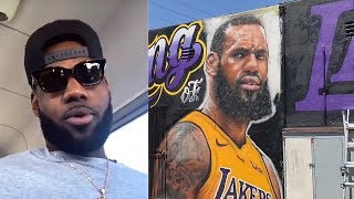 LeBron James Welcomed To Lakers By Getting His Own Mural In Los Angeles!