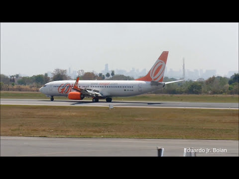 Gol - Boeing 737-800 (PR-GXM) - Cuiabá - Pouso e decolagem- Aeroporto Marechal Rondon