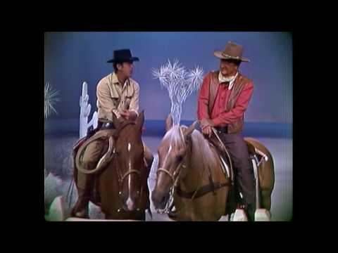 Dean Martin & John Wayne on horse