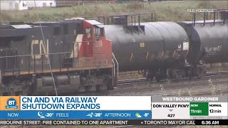CN, VIA railway shut down expands