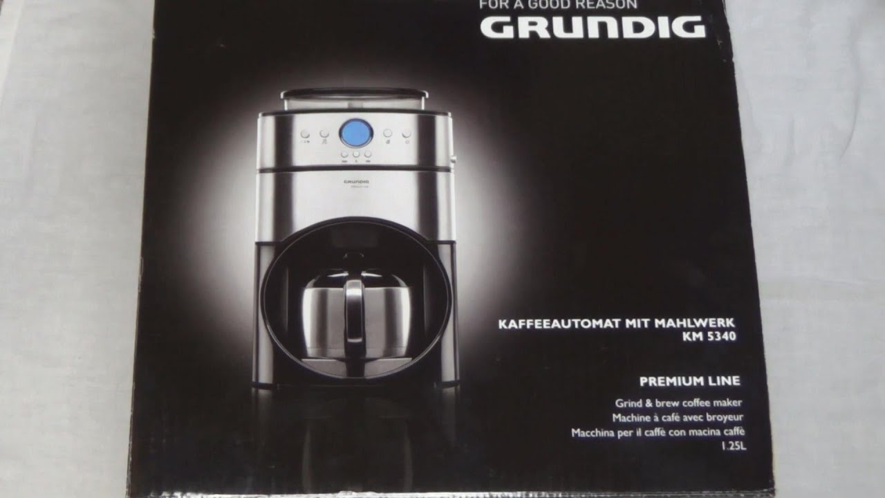 unboxing grundig km 5340 kaffeeautomat mit mahlwerk youtube. Black Bedroom Furniture Sets. Home Design Ideas