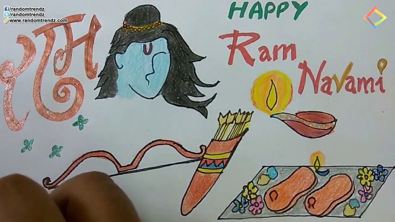 Easy rama navami greeting drawing step by step lord rama birthday easy rama navami greeting drawing step by step lord rama birthday greeting card design kristyandbryce Image collections
